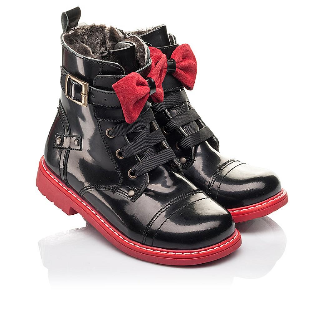 Детские зимние ботинки на меху Woopy Orthopedic черные для девочек натуральная кожа размер 24-32 (4480) Фото 1