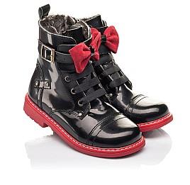 Детские зимние ботинки на меху Woopy Orthopedic черные для девочек  натуральная кожа размер 25-32 (4480) Фото 1