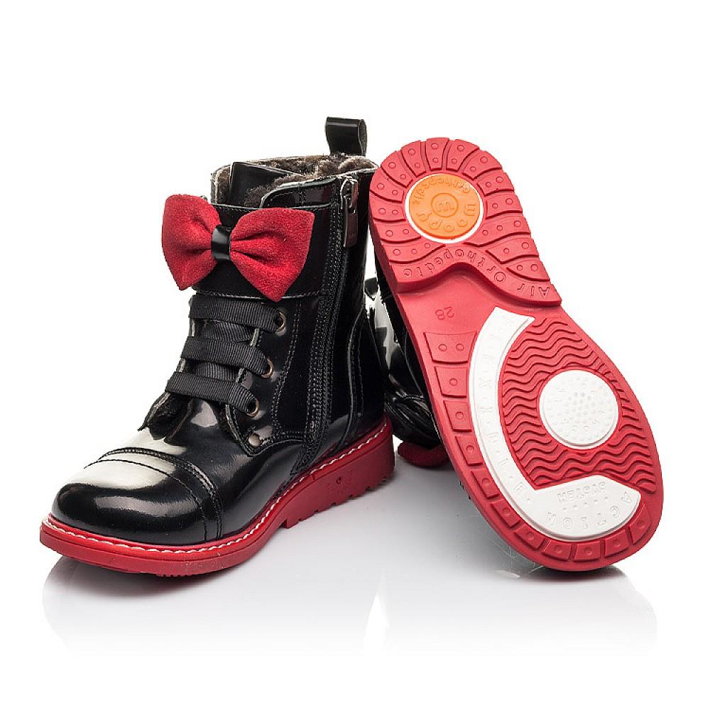 Детские зимние ботинки на меху Woopy Orthopedic черные для девочек натуральная кожа размер 24-32 (4480) Фото 2