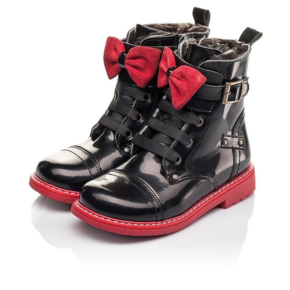 Детские зимние ботинки на меху Woopy Orthopedic черные для девочек натуральная кожа размер 24-32 (4480) Фото 3
