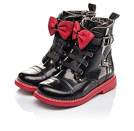 Детские зимние ботинки на меху Woopy Orthopedic черные для девочек  натуральная кожа размер 25-32 (4480) Фото 3
