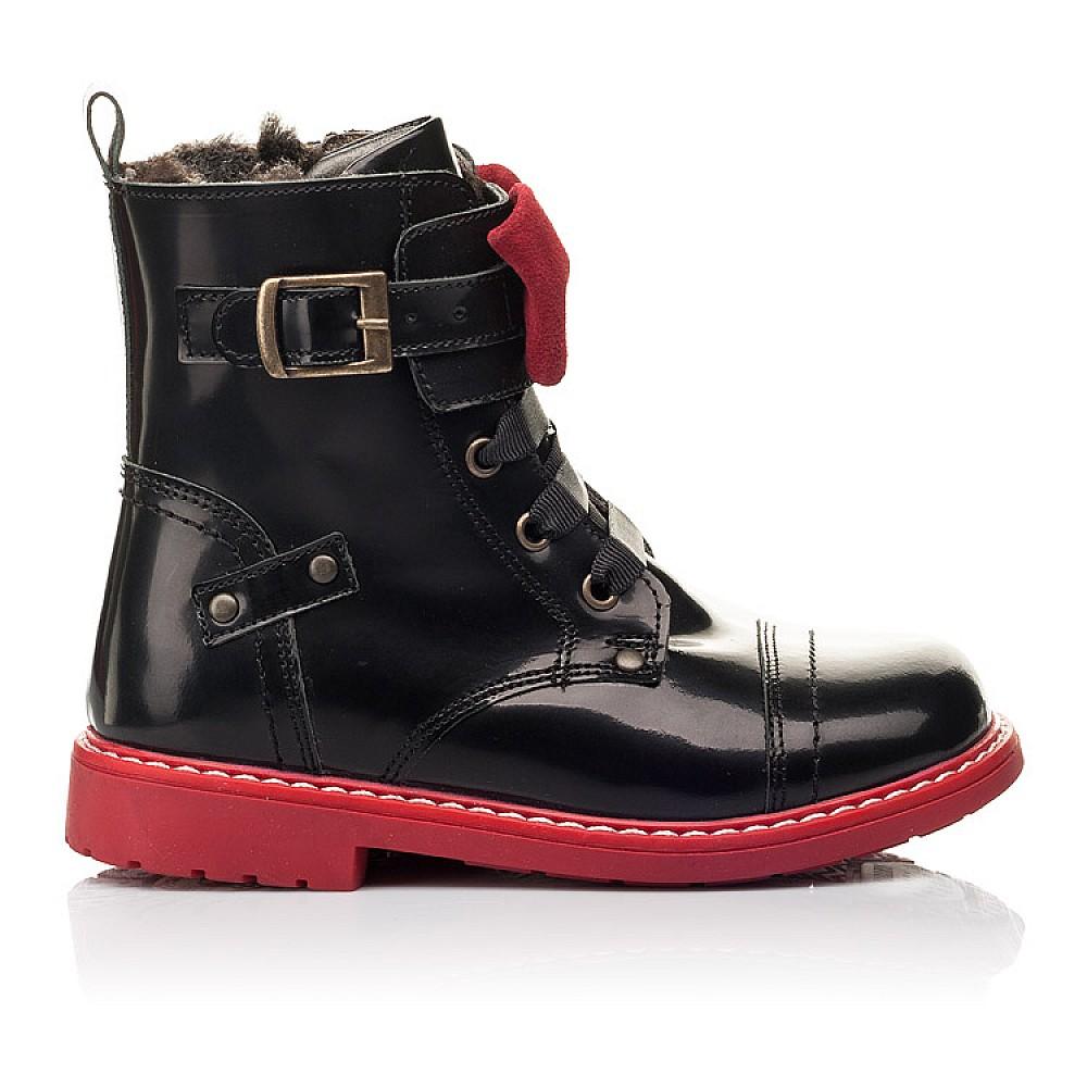 Детские зимние ботинки на меху Woopy Orthopedic черные для девочек натуральная кожа размер 24-32 (4480) Фото 4