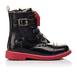 Детские зимние ботинки на меху Woopy Orthopedic черные для девочек  натуральная кожа размер 25-32 (4480) Фото 4