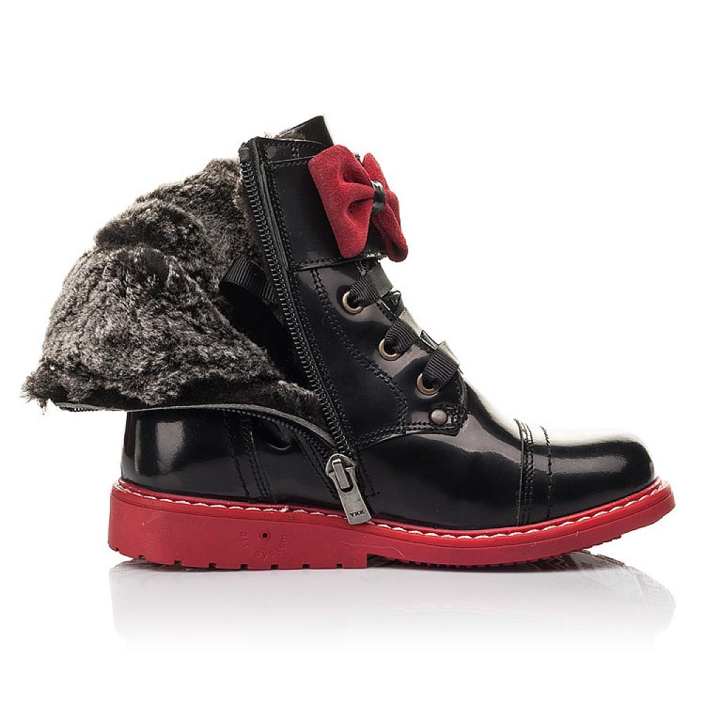 Детские зимние ботинки на меху Woopy Orthopedic черные для девочек натуральная кожа размер 24-32 (4480) Фото 5