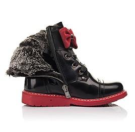 Детские зимние ботинки на меху Woopy Orthopedic черные для девочек  натуральная кожа размер 25-32 (4480) Фото 5