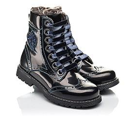 Детские зимние ботинки на меху Woopy Fashion синие для девочек натуральная кожа размер 30-38 (4481) Фото 1