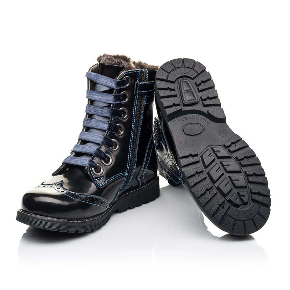 Детские зимние ботинки на меху Woopy Fashion синие для девочек натуральная кожа размер 30-39 (4481) Фото 2