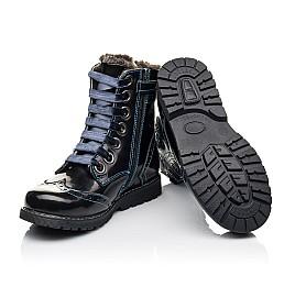 Детские зимние ботинки на меху Woopy Fashion синие для девочек натуральная кожа размер 30-38 (4481) Фото 2