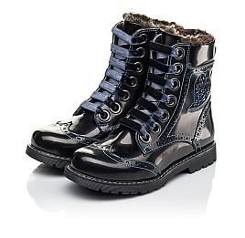 Детские зимние ботинки на меху Woopy Fashion синие для девочек натуральная кожа размер 30-38 (4481) Фото 3