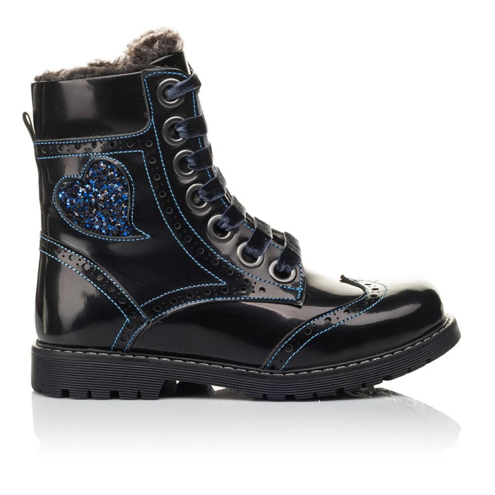 Детские зимние ботинки на меху Woopy Fashion синие для девочек натуральная кожа размер 30-39 (4481) Фото 4