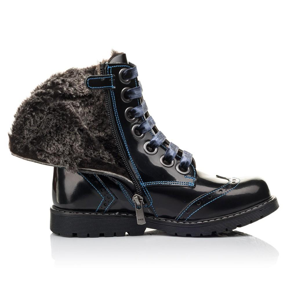 Детские зимние ботинки на меху Woopy Fashion синие для девочек натуральная кожа размер 30-39 (4481) Фото 5