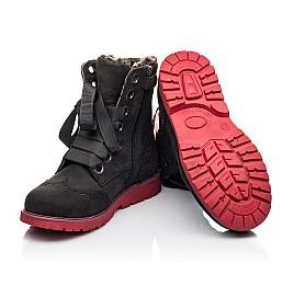 Детские зимние ботинки на меху Woopy Fashion черные для девочек натуральный нубук размер - (4482) Фото 2