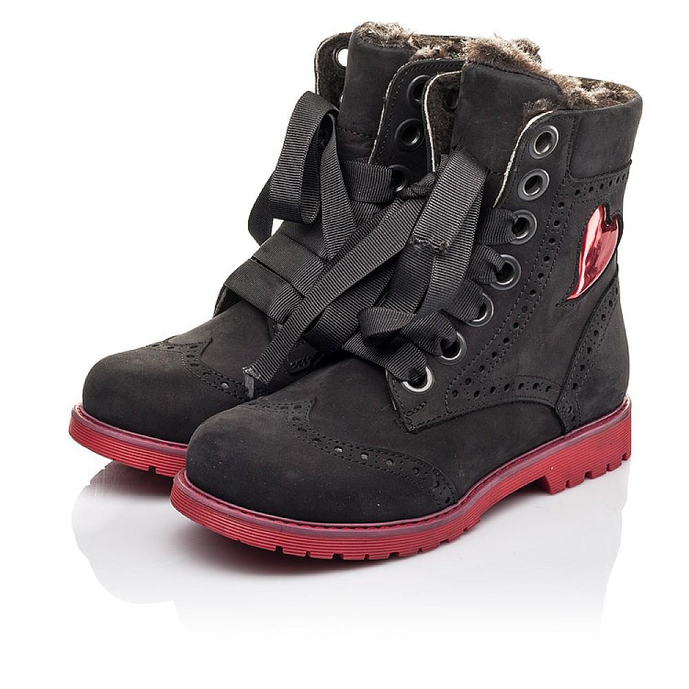 Детские зимние ботинки на меху Woopy Fashion черные для девочек натуральный нубук размер 33-38 (4482) Фото 3