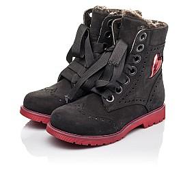 Детские зимние ботинки на меху Woopy Fashion черные для девочек натуральный нубук размер - (4482) Фото 3