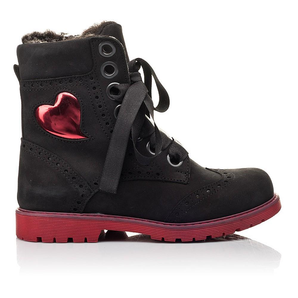 Детские зимние ботинки на меху Woopy Fashion черные для девочек натуральный нубук размер 33-38 (4482) Фото 4