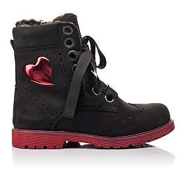 Детские зимние ботинки на меху Woopy Fashion черные для девочек натуральный нубук размер - (4482) Фото 4