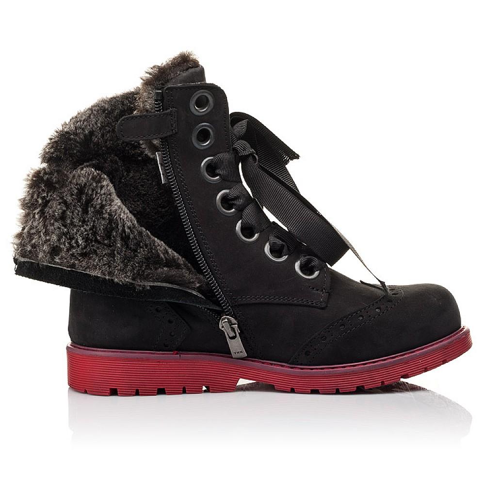 Детские зимние ботинки на меху Woopy Fashion черные для девочек натуральный нубук размер 33-38 (4482) Фото 5