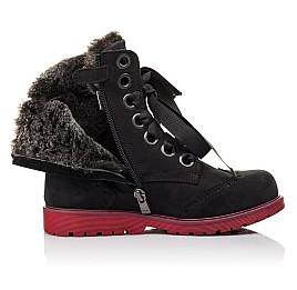 Детские зимние ботинки на меху Woopy Fashion черные для девочек натуральный нубук размер - (4482) Фото 5