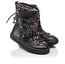 Детские зимние сапоги на меху Woopy Fashion черные для девочек  натуральная кожа размер 27-40 (4483) Фото 1