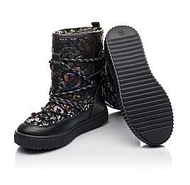 Детские зимние сапоги на меху Woopy Fashion черные для девочек  натуральная кожа размер 27-40 (4483) Фото 2