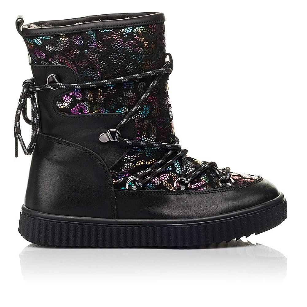 Детские зимние сапоги на меху Woopy Fashion черные для девочек натуральная кожа размер 27-40 (4483) Фото 4