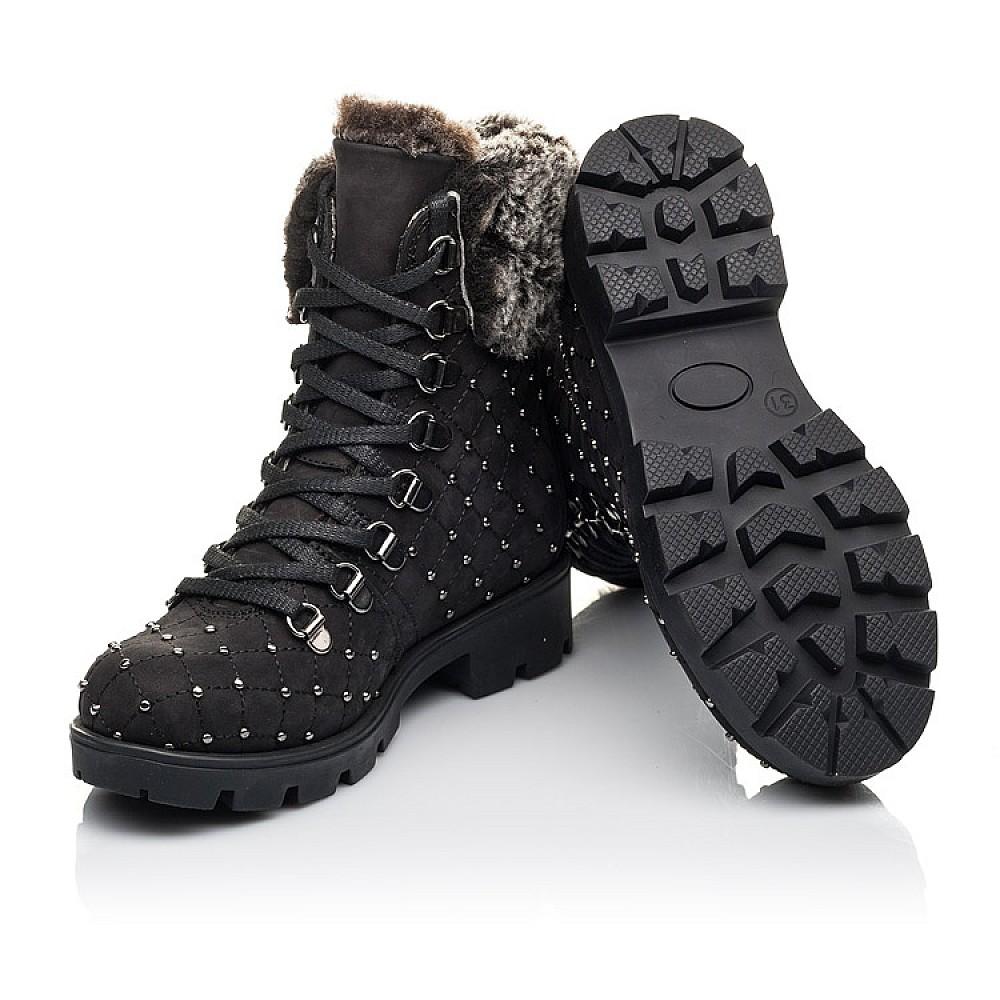 Детские зимние ботинки на меху Woopy Fashion черные для девочек натуральный нубук размер 30-38 (4484) Фото 2