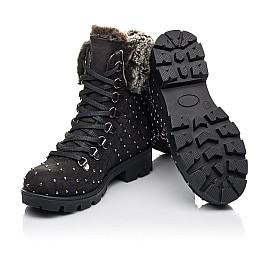 Детские зимние ботинки на меху Woopy Fashion черные для девочек натуральный нубук размер 30-33 (4484) Фото 2