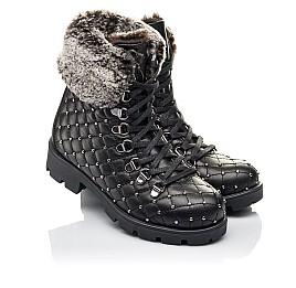 Детские зимние ботинки на меху Woopy Fashion черные для девочек натуральная кожа размер 30-37 (4485) Фото 1