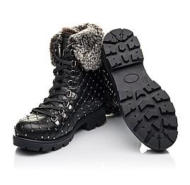 Детские зимние ботинки на меху Woopy Fashion черные для девочек натуральная кожа размер 30-37 (4485) Фото 2