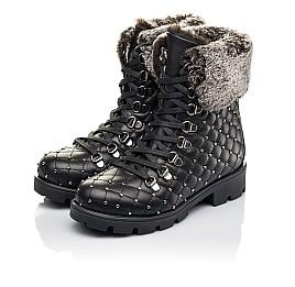 Детские зимние ботинки на меху Woopy Fashion черные для девочек натуральная кожа размер 30-37 (4485) Фото 3