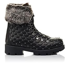 Детские зимние ботинки на меху Woopy Fashion черные для девочек натуральная кожа размер 30-37 (4485) Фото 4
