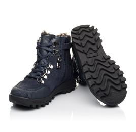 Детские зимние ботинки на меху Woopy Fashion синие для мальчиков натуральная кожа и нубук размер 26-33 (4486) Фото 2