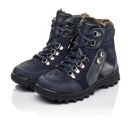 Детские зимние ботинки на меху Woopy Fashion синие для мальчиков натуральная кожа и нубук размер 25-33 (4486) Фото 3