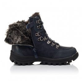 Детские зимние ботинки на меху Woopy Fashion синие для мальчиков натуральная кожа и нубук размер 25-33 (4486) Фото 5
