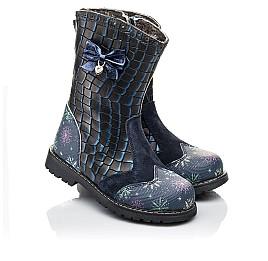 Детские зимние сапоги на меху Woopy Fashion синие для девочек натуральная кожа размер 23-31 (4487) Фото 1
