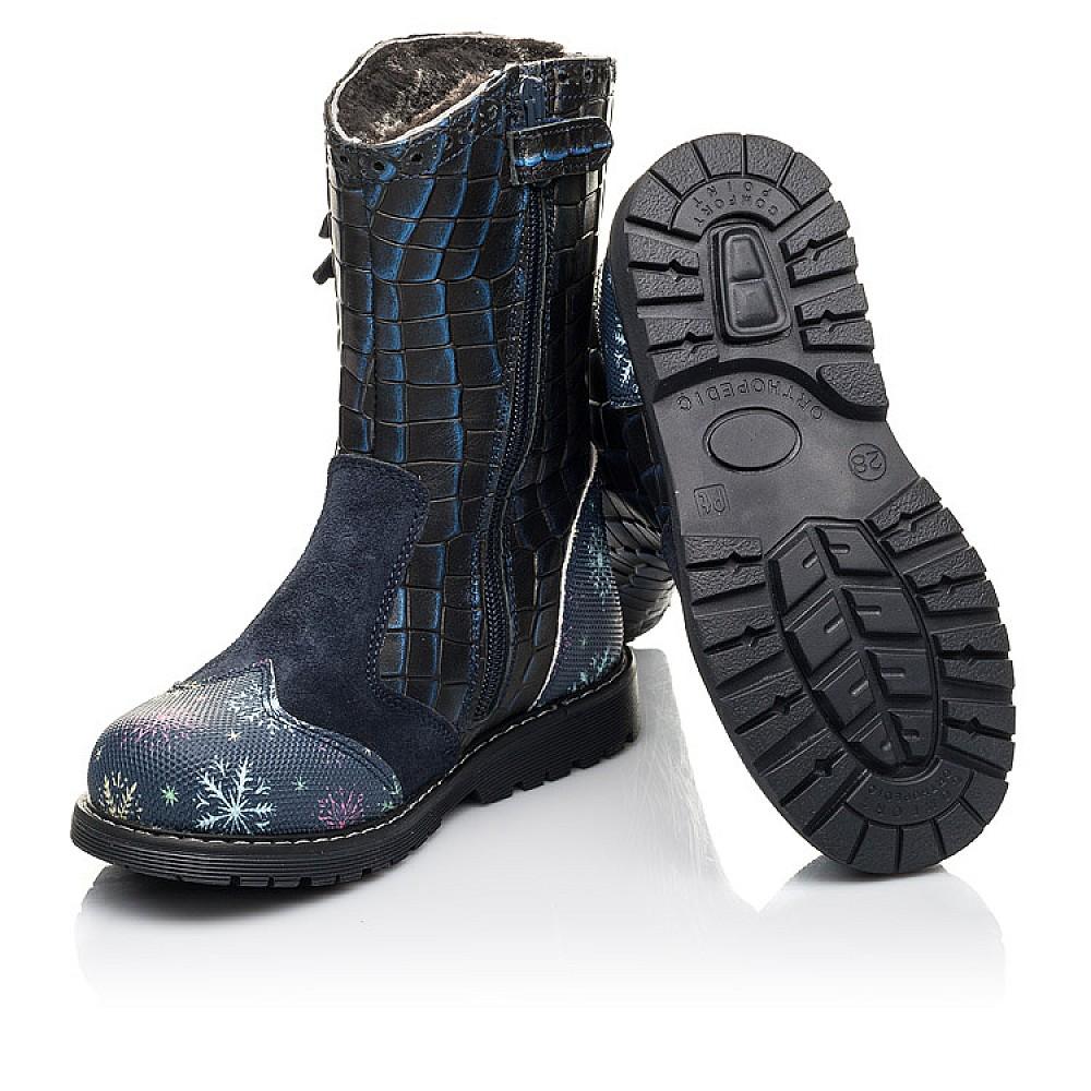 Детские зимние сапоги на меху Woopy Fashion синие для девочек натуральная кожа размер 23-33 (4487) Фото 2