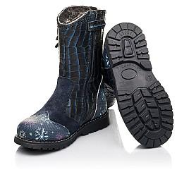 Детские зимние сапоги на меху Woopy Fashion синие для девочек натуральная кожа размер 23-31 (4487) Фото 2