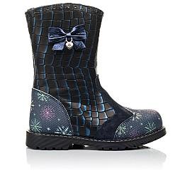 Детские зимние сапоги на меху Woopy Fashion синие для девочек натуральная кожа размер 23-31 (4487) Фото 4