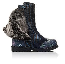 Детские зимние сапоги на меху Woopy Fashion синие для девочек натуральная кожа размер 23-31 (4487) Фото 5