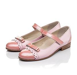 Детские туфли Woopy Fashion розовые для девочек натуральная кожа / лаковая кожа размер 31-36 (4488) Фото 3