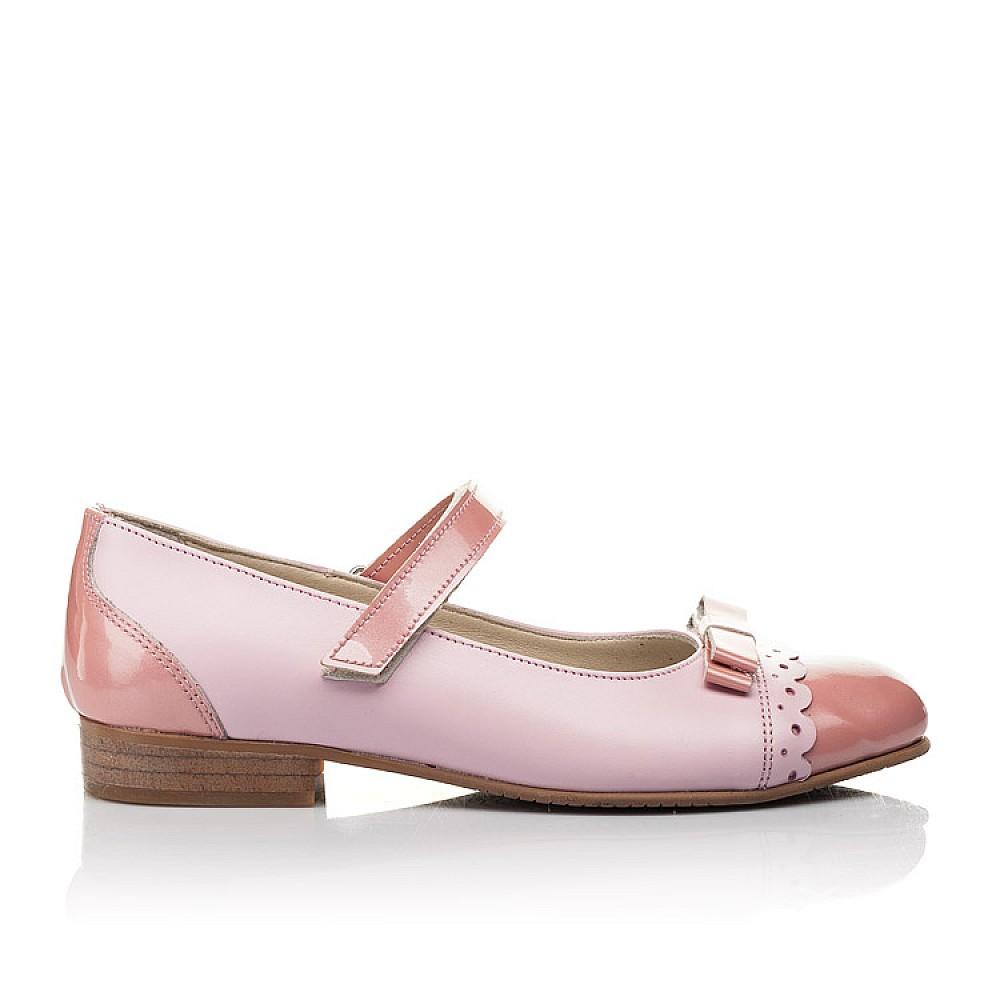 Детские туфли Woopy Fashion розовые для девочек натуральная кожа / лаковая кожа размер 31-36 (4488) Фото 4