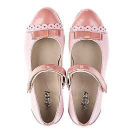 Детские туфли Woopy Fashion розовые для девочек натуральная кожа / лаковая кожа размер 31-36 (4488) Фото 5