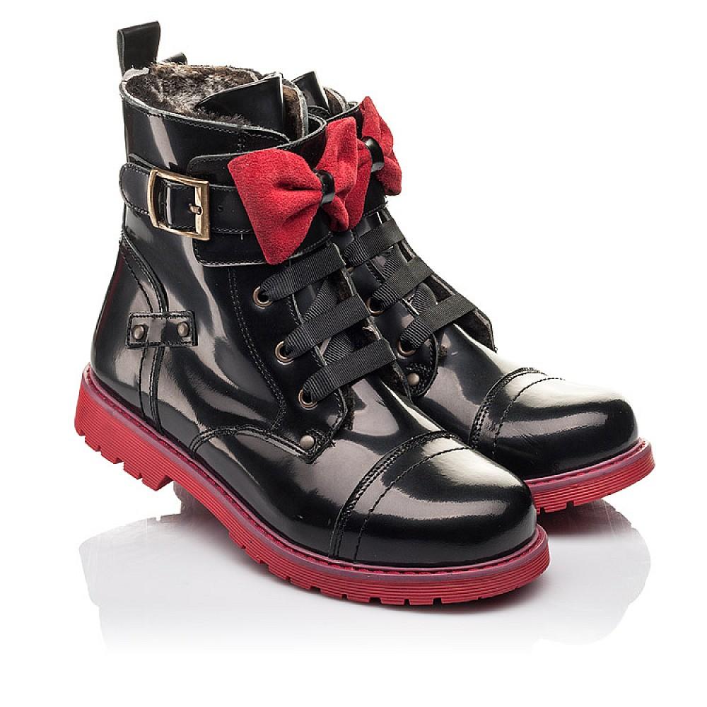 Детские зимние ботинки на меху Woopy Fashion черные для девочек натуральная кожа размер 33-38 (4489) Фото 1