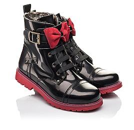 Детские зимние ботинки на меху Woopy Fashion черные для девочек натуральная кожа размер 34-38 (4489) Фото 1