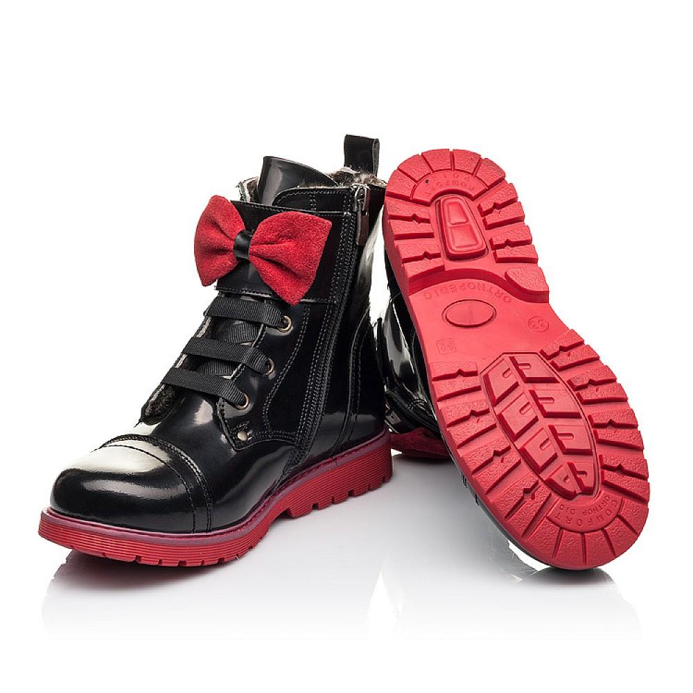 Детские зимние ботинки на меху Woopy Fashion черные для девочек натуральная кожа размер 33-38 (4489) Фото 2