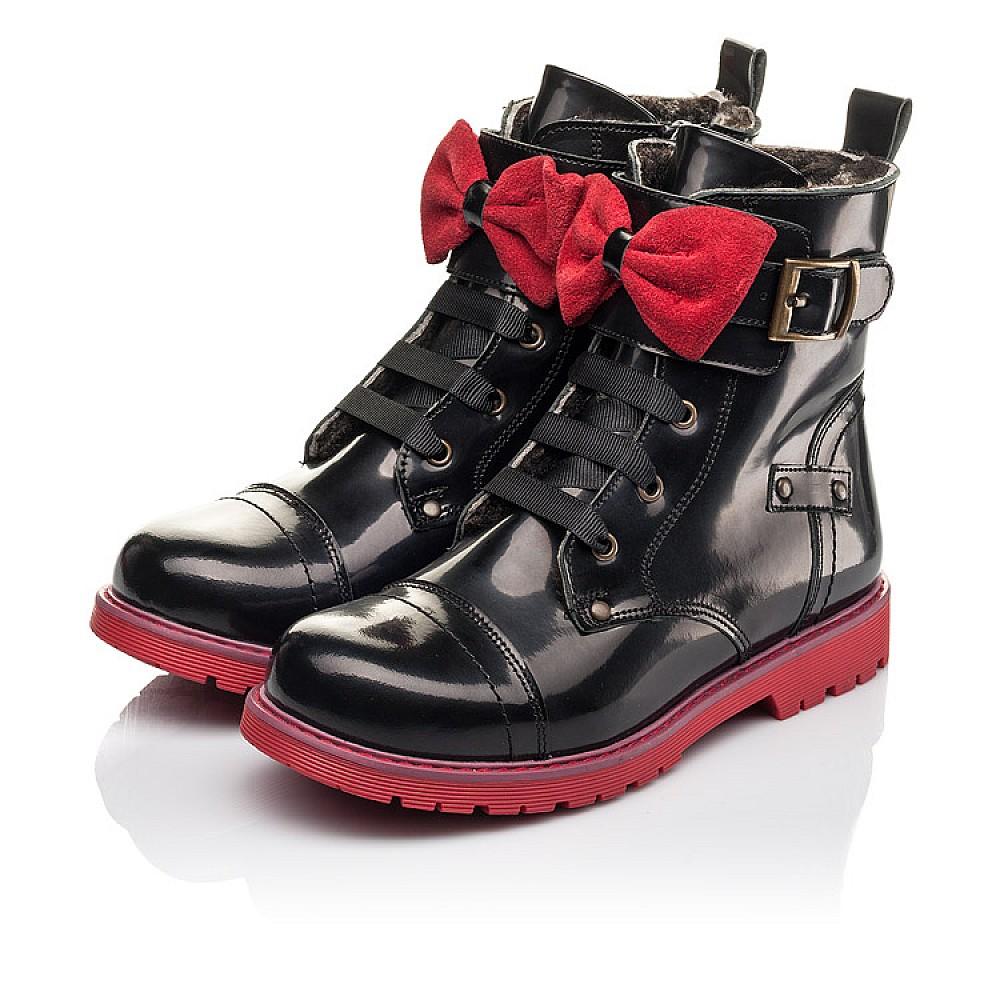Детские зимние ботинки на меху Woopy Fashion черные для девочек натуральная кожа размер 33-38 (4489) Фото 3
