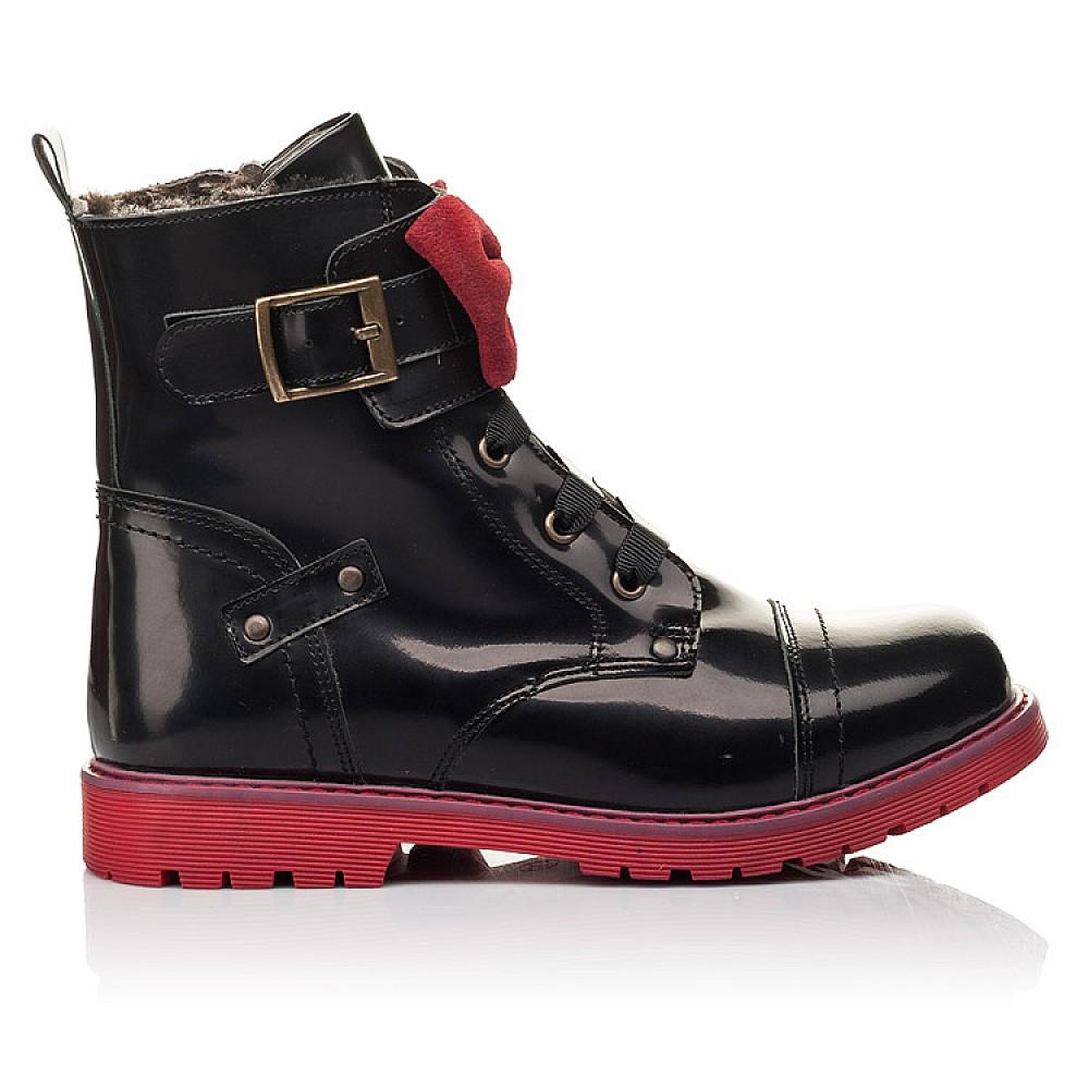 Детские зимние ботинки на меху Woopy Fashion черные для девочек натуральная кожа размер 33-38 (4489) Фото 4