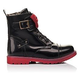 Детские зимние ботинки на меху Woopy Fashion черные для девочек натуральная кожа размер 37-38 (4489) Фото 4