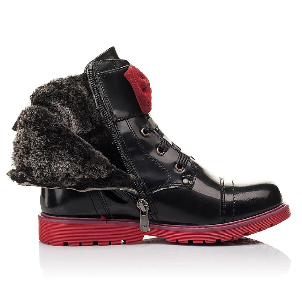 Детские зимние ботинки на меху Woopy Fashion черные для девочек натуральная кожа размер 33-38 (4489) Фото 5