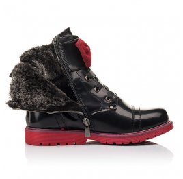 Детские зимние ботинки на меху Woopy Fashion черные для девочек натуральная кожа размер 34-38 (4489) Фото 5